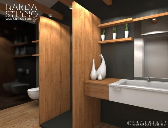 Nardastudio badezimmer holz - Badezimmer ablage holz ...